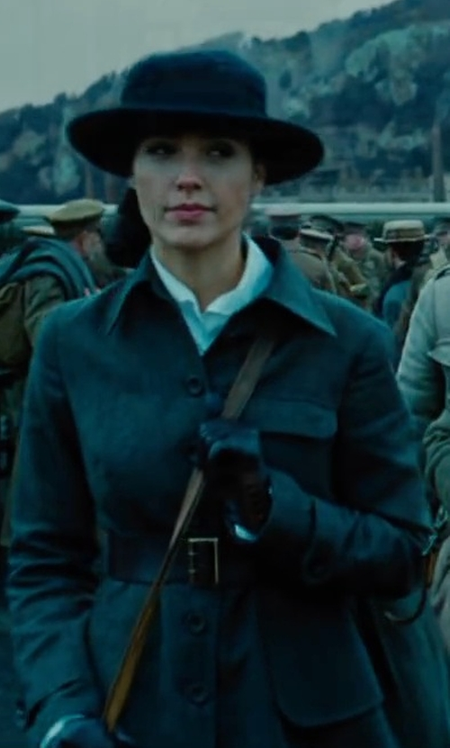 Gal Gadot with Michael Kors Belted Trench Coat in Wonder Woman