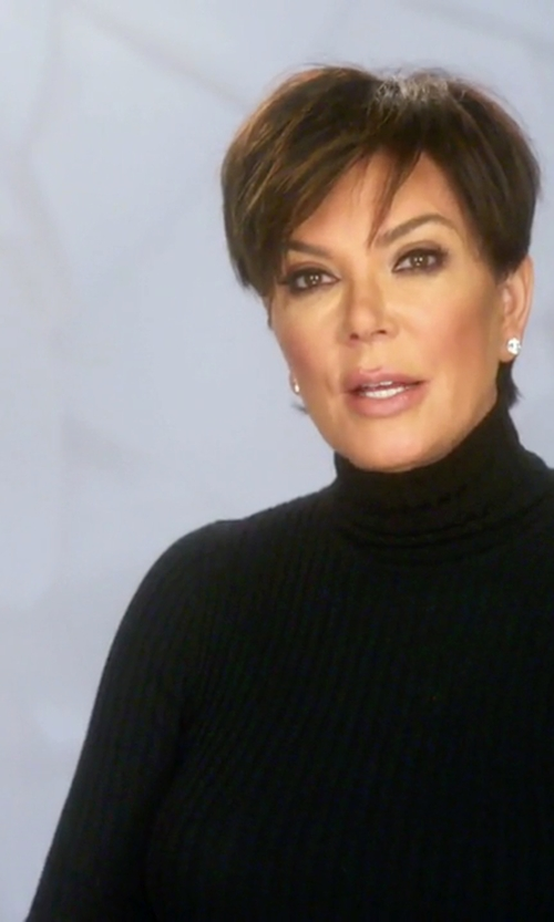 Kris Jenner with 360 Sweater Haight Ribbed Sweater  in Keeping Up With The Kardashians