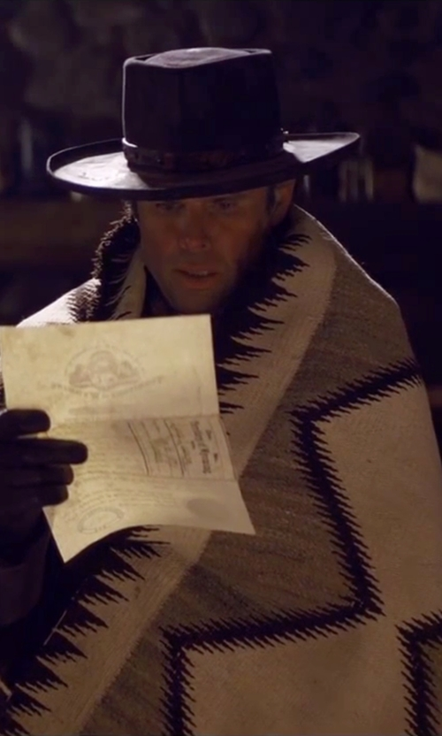 Walton Goggins  with Pendleton Heritage Wool Blankets in The Hateful Eight