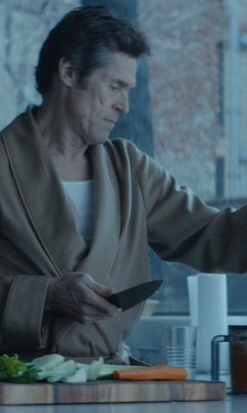 Willem Dafoe with Crate & Barrel End Grain Chopping Board in John Wick