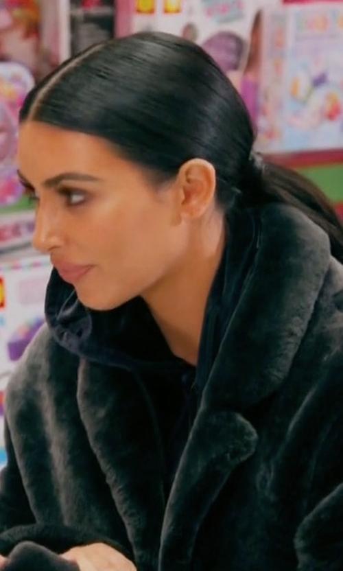 Kim Kardashian West with Rochas Lamb Shearling Coat in Keeping Up With The Kardashians