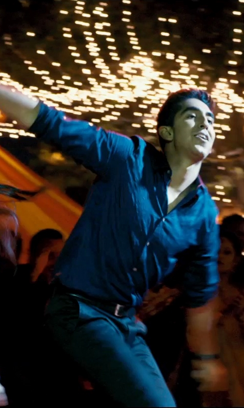 Dev Patel with Burberry Briar Leather Belt in The Second Best Exotic Marigold Hotel