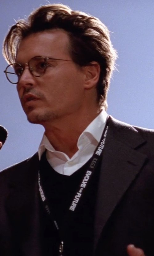 Johnny Depp with GENTRYPORTOFINO Sweater in Transcendence