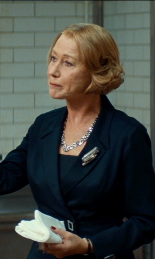 Helen Mirren with Gucci Necklace in Sterling Silver with Marina Chain Motif in The Hundred-Foot Journey