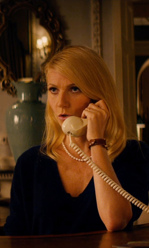 Gwyneth Paltrow with Velvet by Graham & Spencer Cross Front Blouse in Mortdecai
