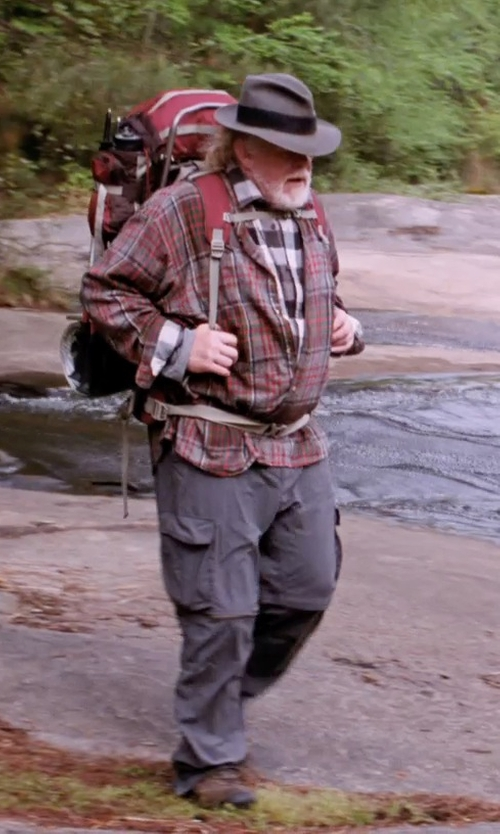 Nick Nolte with Brooks Brothers Non-Iron Regent Fit Tonal Plaid Sport Shirt in A Walk in the Woods