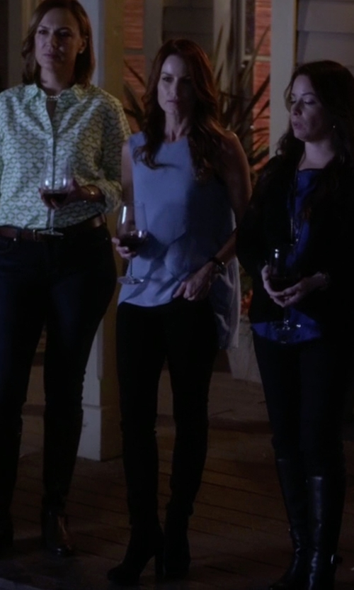 Laura Leighton with Heidi Suede Ankle Boots in Pretty Little Liars