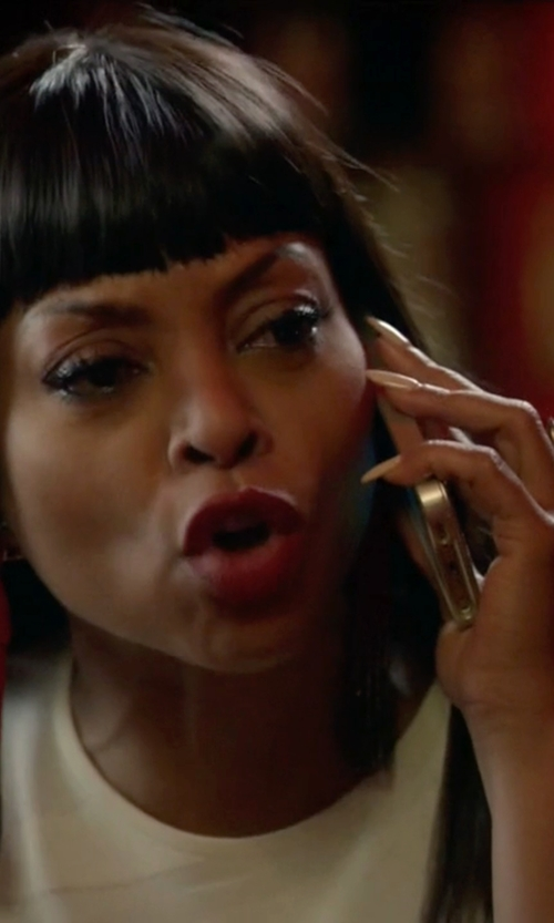Taraji P. Henson with Oscar De La Renta Ombré Tassel Earrings in Empire