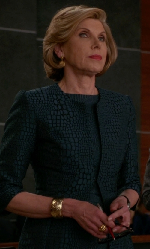 Christine Baranski with Chlotilde Patterned Blazer in The Good Wife