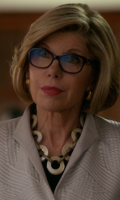 Christine Baranski with Lord & Taylor Circle Twist Necklace in The Good Wife