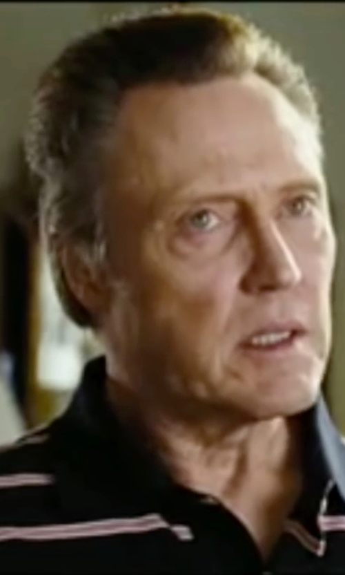 Christopher Walken with Polo Ralph Lauren Striped Stretch-Mesh Polo Shirt in Wedding Crashers
