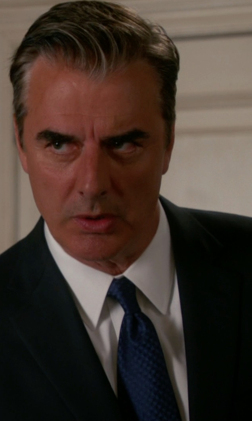Chris Noth with Hugo Boss 'Tie Traveler'  Italian Silk Textured Tie in The Good Wife
