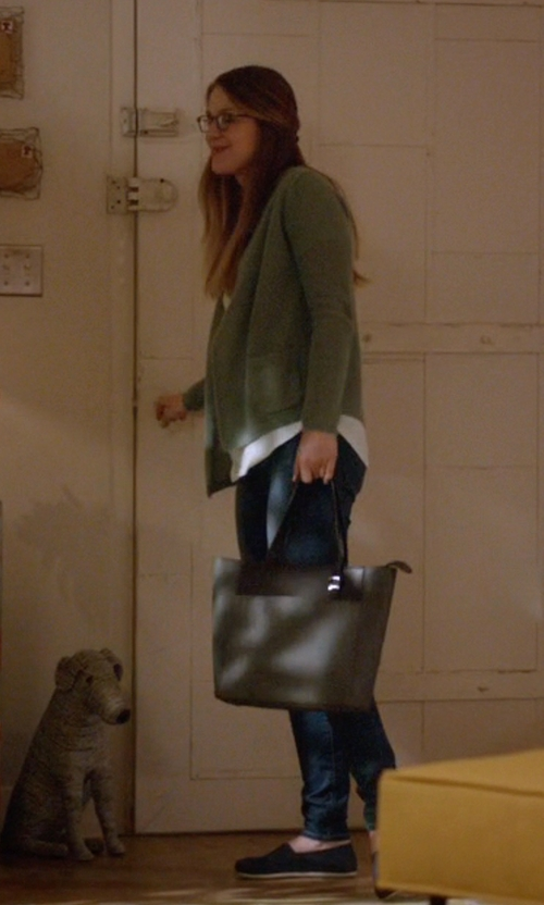 Melissa Benoist with Tumi  Sinclair - Small Nora Tote Bag in Supergirl