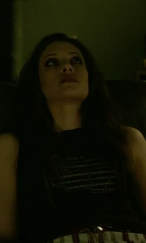 Carly Chaikin with Bandit Brand The Blackout Muscle Tee Shirt in Mr. Robot