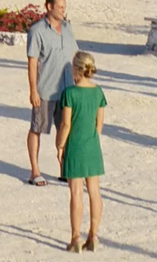 Kristen Bell with AGB Dress Women's Stretch Twill Dress in Couple's Retreat