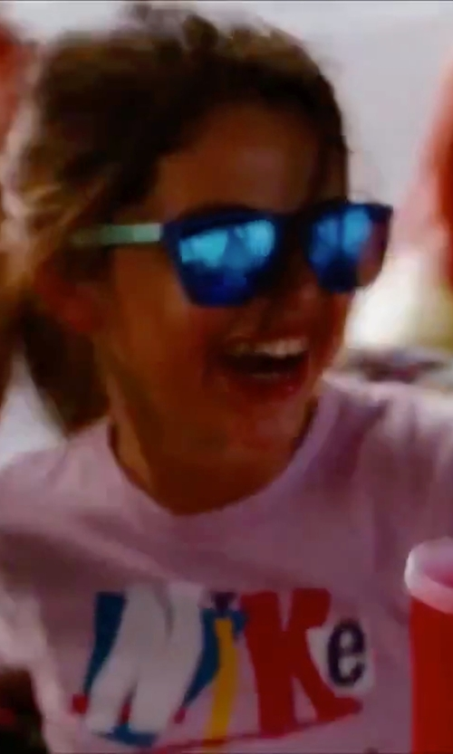 Selena Gomez with Nike Pink Printed T-Shirt in Spring Breakers