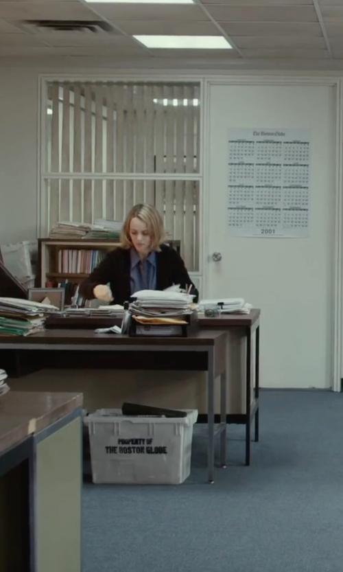 Rachel McAdams with Neiman Marcus Cashmere Open-Front Cardigan in Spotlight