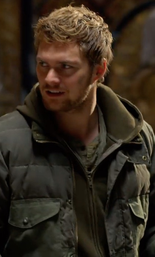 Finn Jones with Tommy Hilfiger Downtown Field Jacket in Marvel's The Defenders