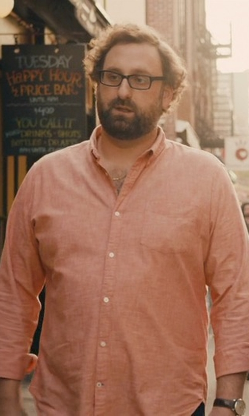 Eric Wareheim with Polo Ralph Lauren Fitted Poplin Estate Dress Shirt in Master of None