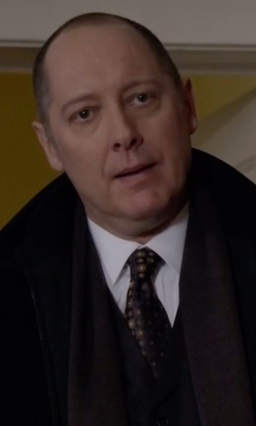 James Spader with Brooks Brothers Tonal Medallion Tie in The Blacklist