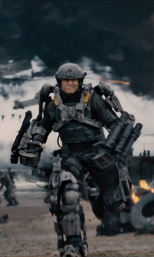 Tom Cruise with Kate Hawley (Costume Designer) Custom Made Power Armor Suit (Lt. Col. Bill Cage) in Edge of Tomorrow