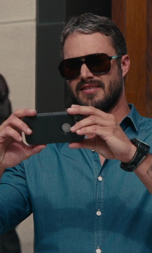 Taylor Kinney with Tom Ford Eyewear Terry 58mm Acetate Navigator Sunglasses in The Other Woman