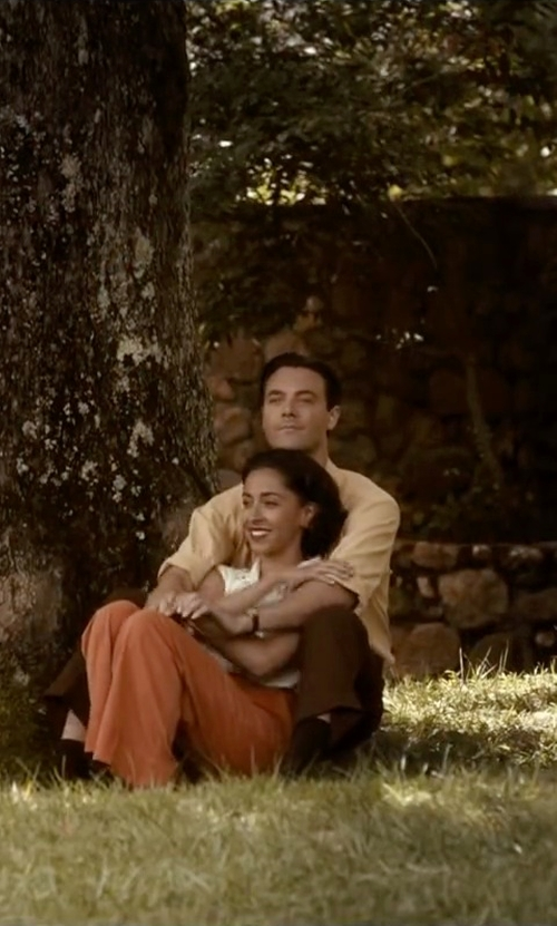 Oona Chaplin with Mod Cloth Assign of the Times Pants in The Longest Ride