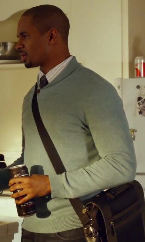 Damon Wayans Jr. with Jack Spade Dudley Sweater in Let's Be Cops