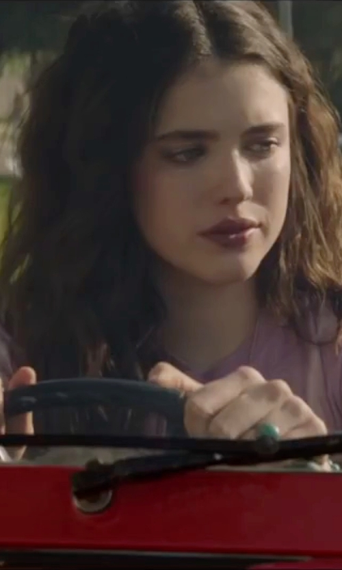 Margaret Qualley with Rossopuro Short Sleeve T-Shirt in The Nice Guys