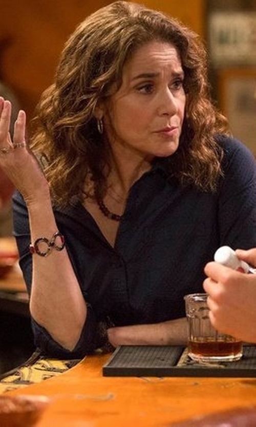 Debra Winger with Cljstore Infinity Charm Bangle Bracelet in The Ranch