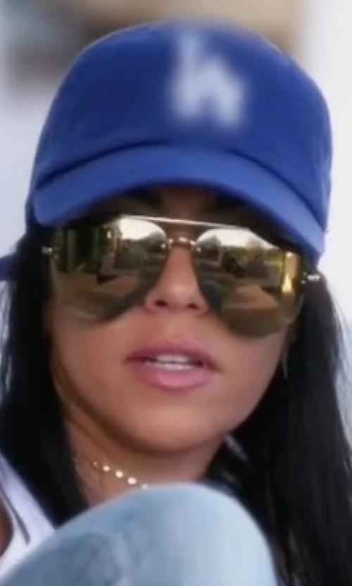 Kourtney Kardashian with Celine MV Metal Aviator Sunglasses in Keeping Up With The Kardashians