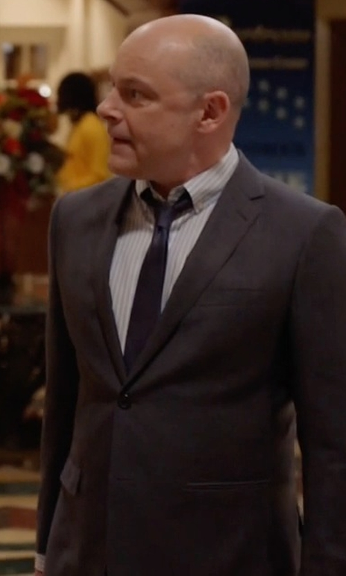 Rob Corddry with Burberry Modern-Fit Wool Suit in Ballers