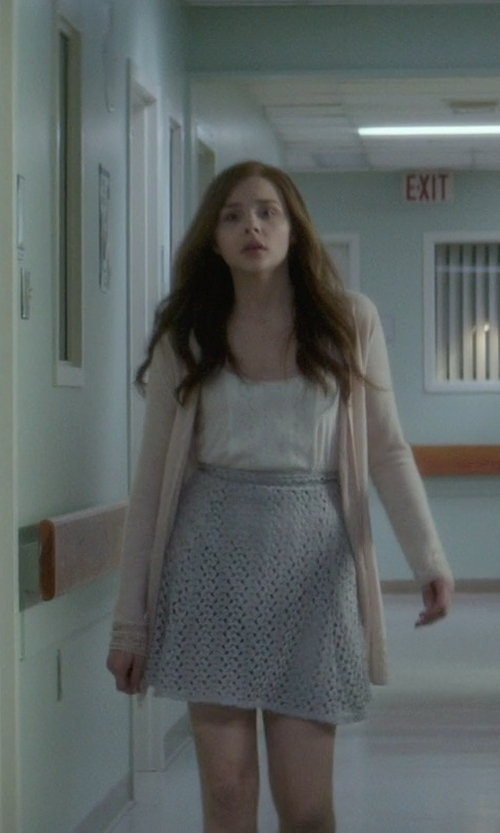 Chloë Grace Moretz with Monique Prudhomme (Costume Designer) Custom Made Lace Skirt in If I Stay