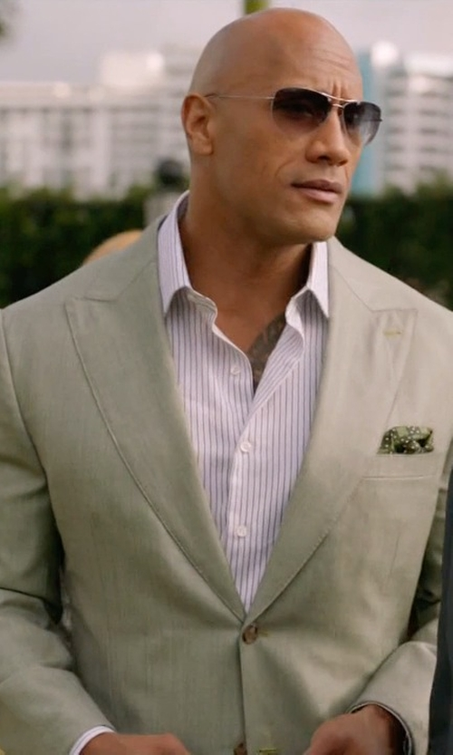 Dwayne Johnson with Boss Hugo Boss Huge Genius Solid Two-Piece Suit in Ballers