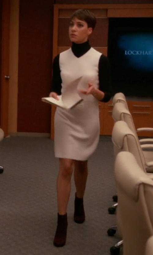 Cush Jumbo with Sam Edelman Edith Ankle Booties in The Good Wife