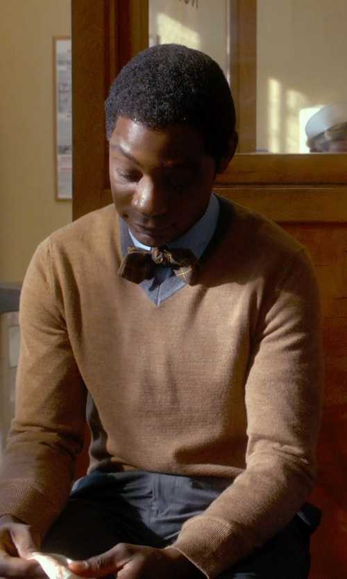 Nelsan Ellis with Mister. Duvall Cashmere Bow Tie in Get On Up