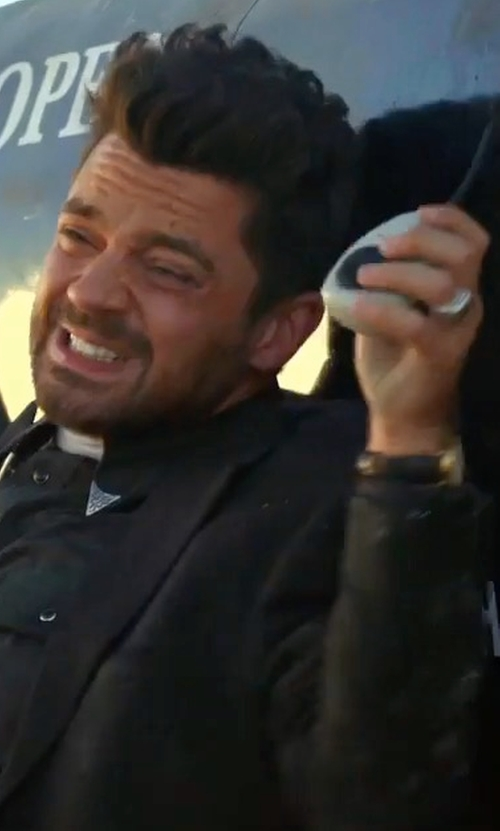 Dominic Cooper with Coach Bleecker Plated Strap Watch in Preacher