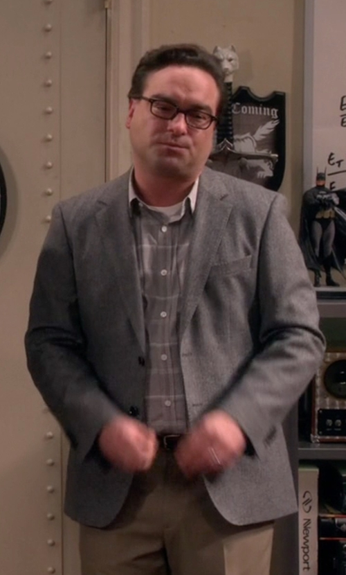 Johnny Galecki with Lauren Ralph Lauren Neat Classic-Fit Sport Coat in The Big Bang Theory
