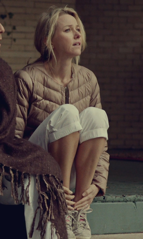 Naomi Watts with Adidas Originals Gazelle OG 2 Sneakers - Bliss / Blaze Pink / Ecru in While We're Young