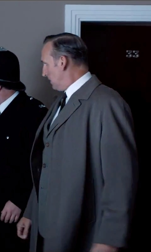 Christopher Eccleston with Pal Zileri Cerimonia Single Breasted Trench Coat in Legend