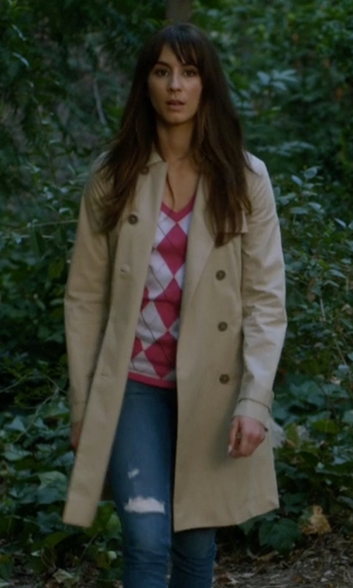 Troian Bellisario with Ganni Trench Coat in Pretty Little Liars