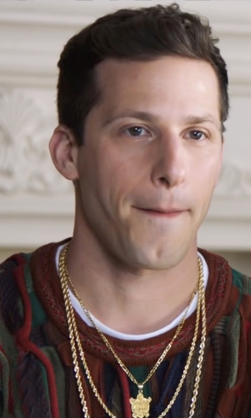 Andy Samberg with Carven Printed Sweater in Popstar: Never Stop Never Stopping