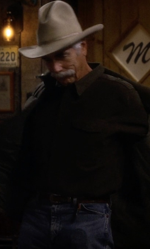 Sam Elliott with Shinola Essex Double Stitch Leather Belt in The Ranch