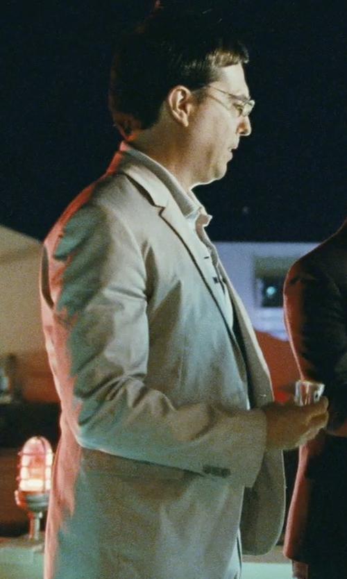 Ed Helms with Lauren Ralph Lauren Solid Classic-Fit Suit in The Hangover