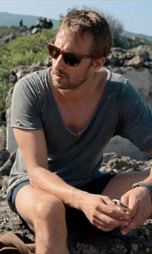 Matthias Schoenaerts with Original Penguin The Kerr Square Sunglasses in A Bigger Splash