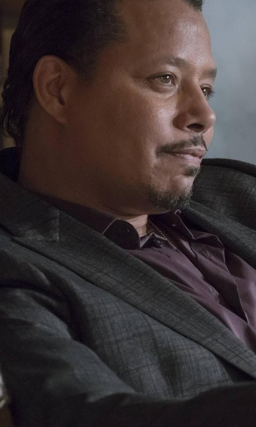 Terrence Howard  with Pal Zileri Modern-Fit Cotton Dress Shirt in Empire