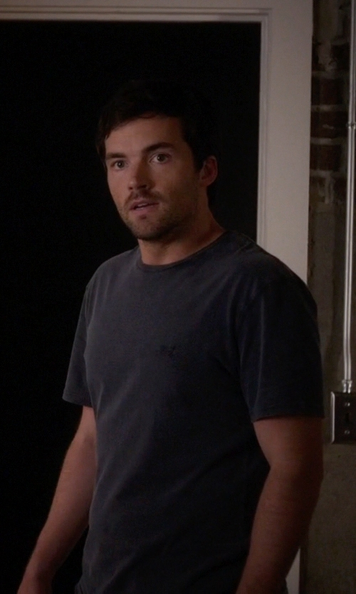Ian Harding with Topman  LTD Core Collection T-Shirt in Pretty Little Liars