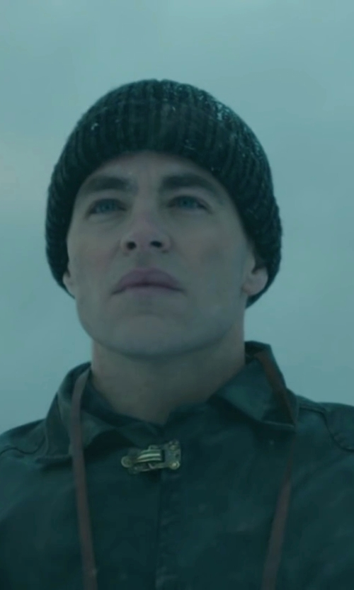 Chris Pine with G-Star Men's Originals Beanie Hat in The Finest Hours