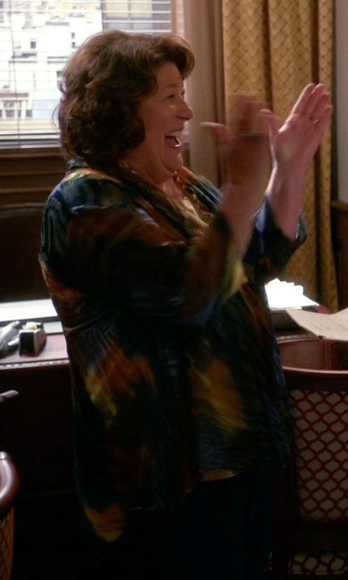 Margo Martindale with Just Cavalli	 Neck-Tie Printed Blouse in The Good Wife