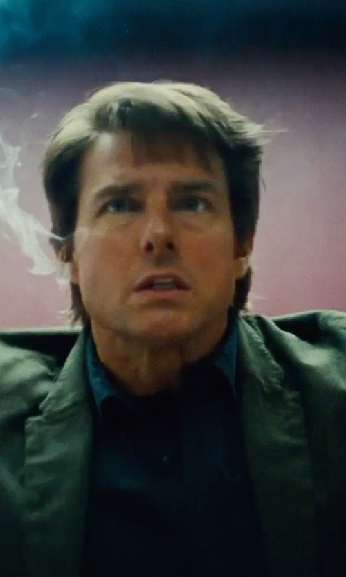 Tom Cruise with Topman Premium Long Sleeve Smart Shirt in Mission: Impossible - Rogue Nation